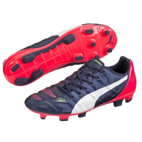 puma soccer boots blue and pink